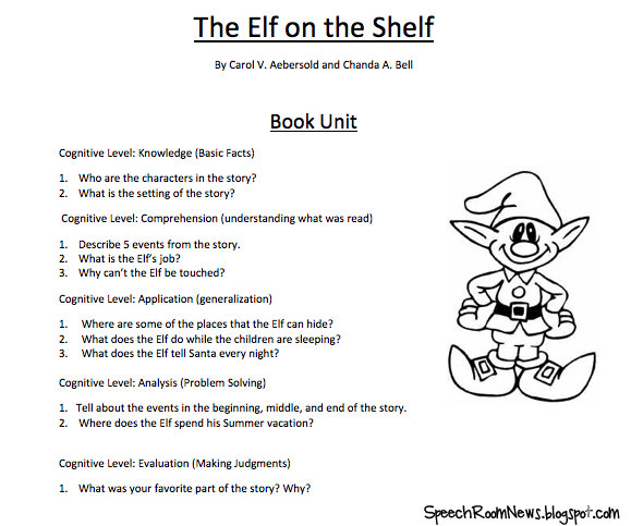 Elf on the SPEECH Shelf - Speech Room News