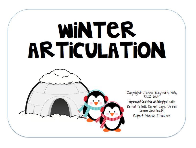 Winter Packets part 1 Speech Room News – R Articulation Worksheets