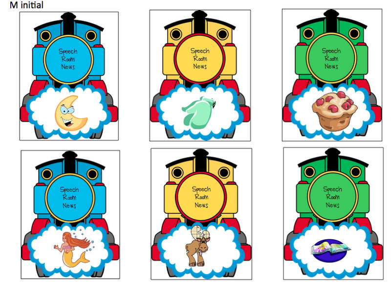 Choo Choo Train Articulation Cards Speech Room News – Thomas the Train Valentines Day Cards