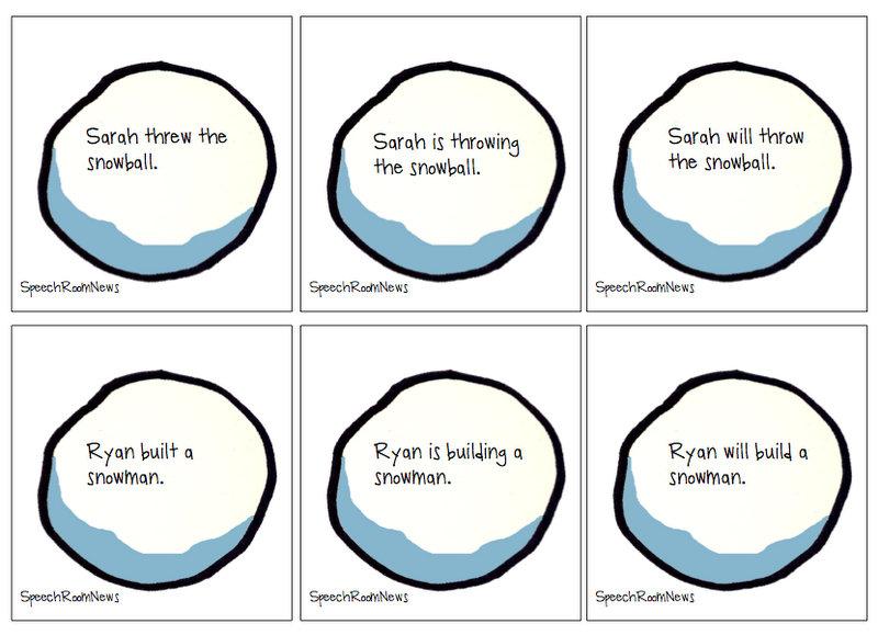 Snowball Verb Sort - Speech Room News