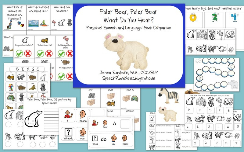 Polar Bear, Polar Bear {Book Companion with Freebie} - Speech Room ...
