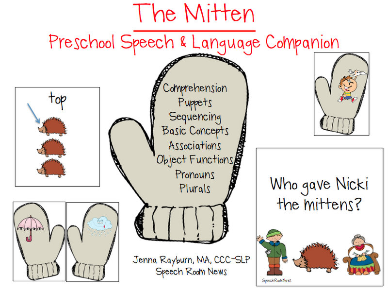 photo about The Mitten Animals Printable called The Mitten: Preschool Product - Speech Area Information