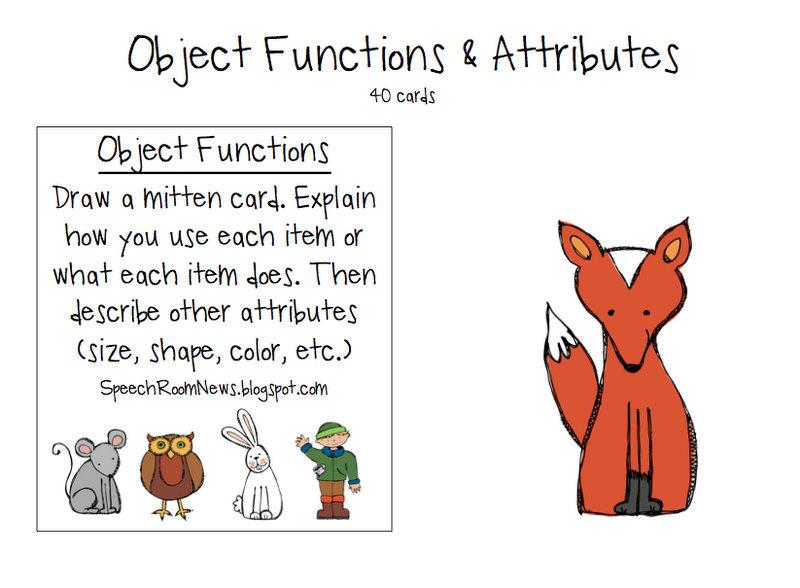 The Mitten: Preschool Unit - Speech Room News