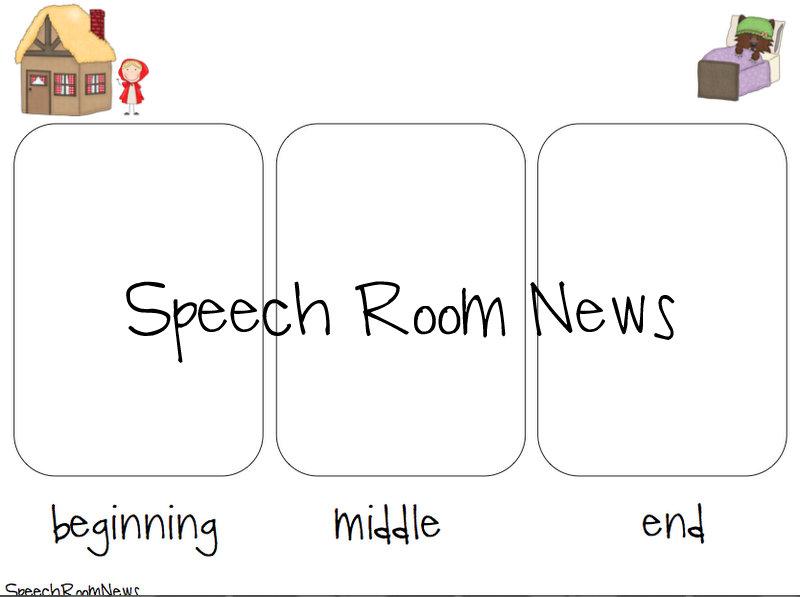 Little Red Riding Hood Book Companion Speech Room News – Beginning Middle End Worksheet Kindergarten
