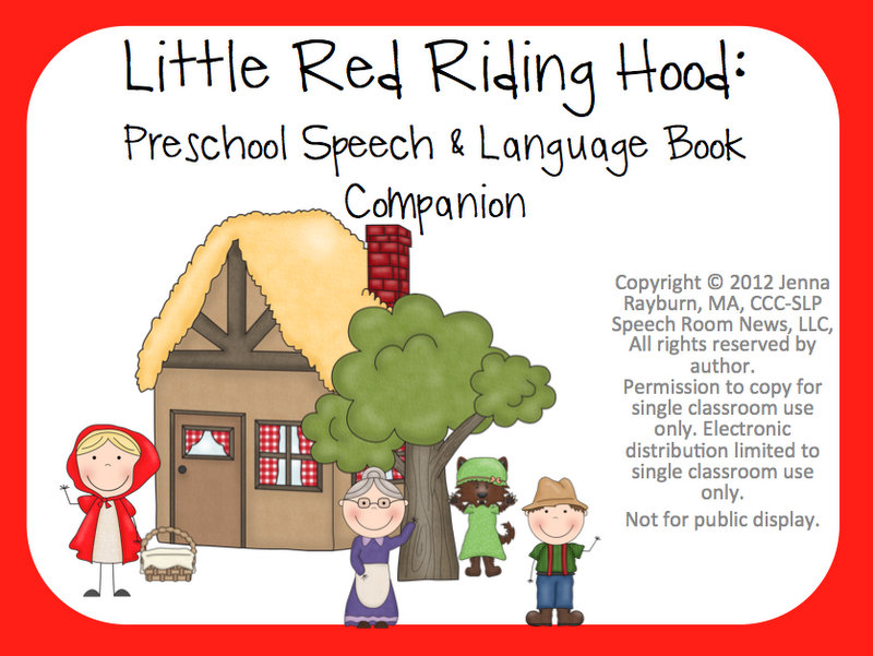 photo regarding Little Red Riding Hood Story Printable named Very little Crimson Using Hood: E-book Partner - Speech House Information