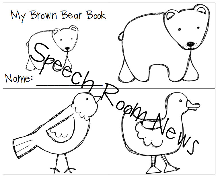 photograph relating to Brown Bear Brown Bear Printable Book identify Brown Go through, Brown Undertake Preschool E-book Partners - Speech