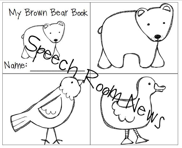 Brown Bear Brown Bear Preschool Book Companions  Speech Room News