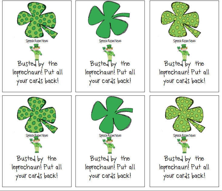 St Patrick S Day Articulation Packets Speech Room News
