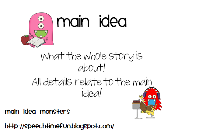 how to find main idea of a fictional story