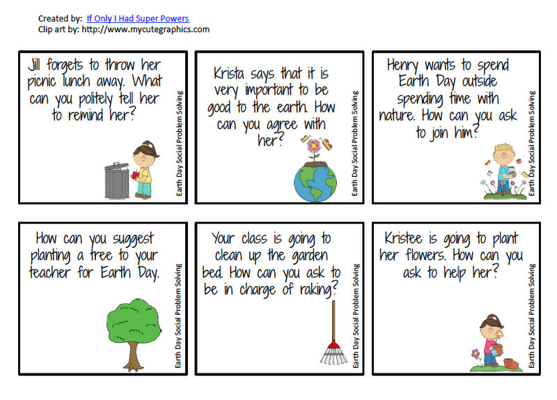 12 Earth Day Freebies for Speech and Language Speech Room News – Social Problem Solving Worksheets