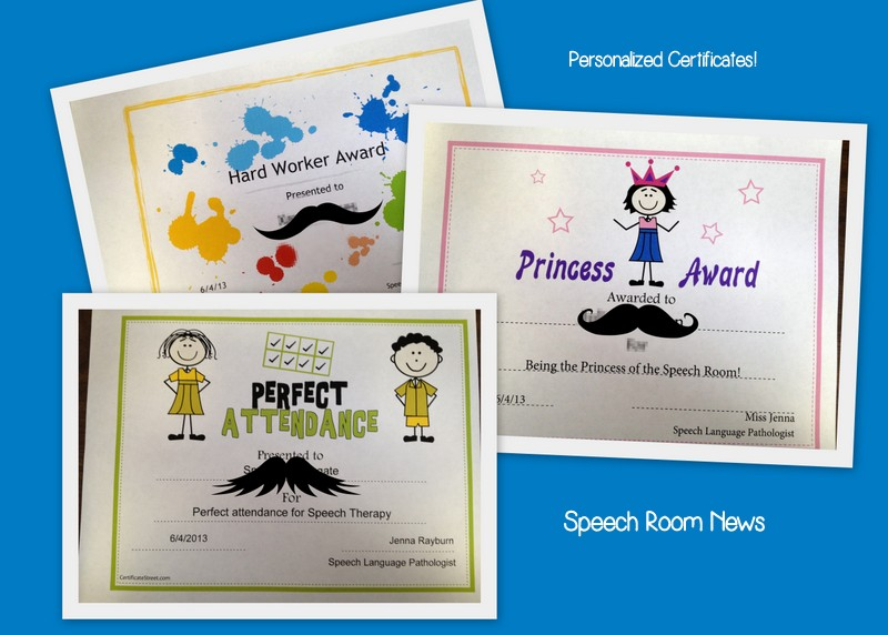 end of the year awards for preschoolers  End of Year Certificates! - Speech Room News