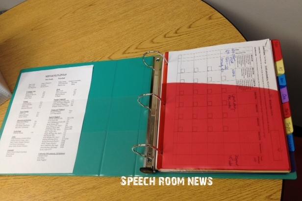 SLP 101: Working Folders - Speech Room News  Organized Student Binder
