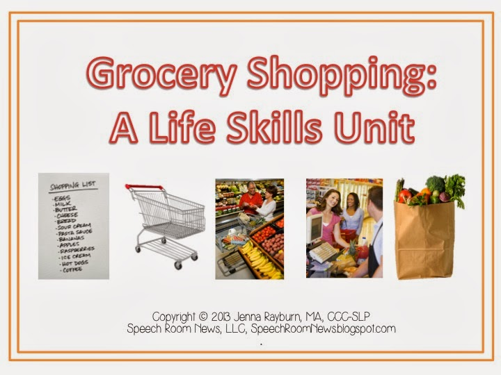 Grocery Shopping Life Skills Unit Speech Room News