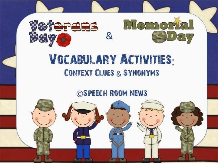 Veterans Day Downloads Books Amp Freebies Speech Room News