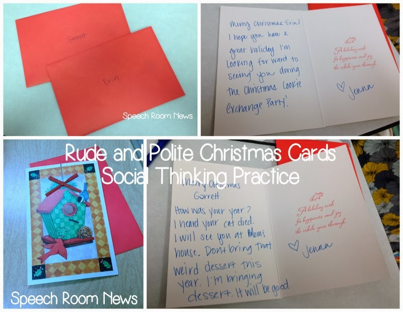 Social Thinking Christmas Cards Speech Room News
