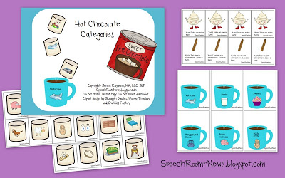 Hot Chocolate: Categories, Phonological Awareness {& Freebie!}