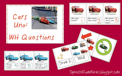 Cars Articulation and Language Activities