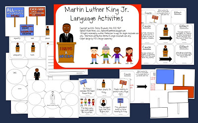 Martin Luther King Jr. Speech & Language Activities