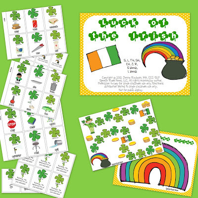 St. Patrick's Day Articulation Packets