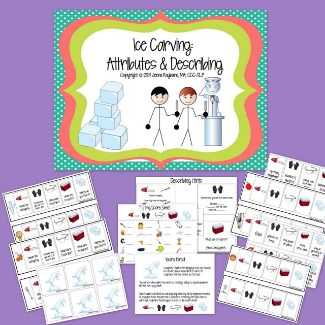 Ice Carving: Describing Attributes