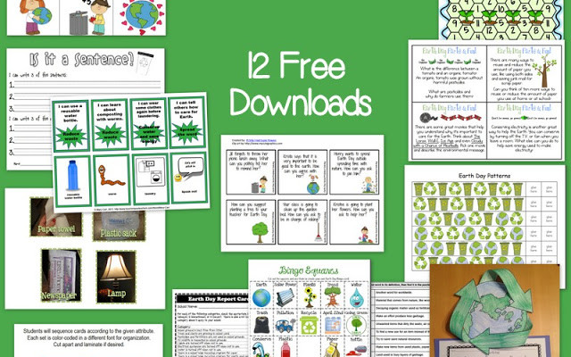 12 Earth Day Freebies for Speech and Language