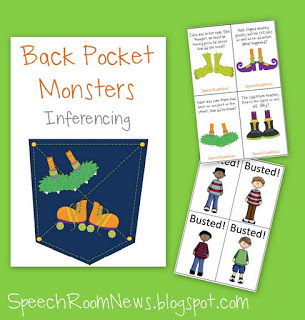 Back Pocket Monsters: Inferences & Plurals FREEBIE
