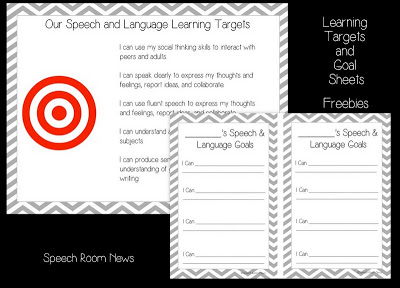 SLP 101: Learning Targets {with Freebie}