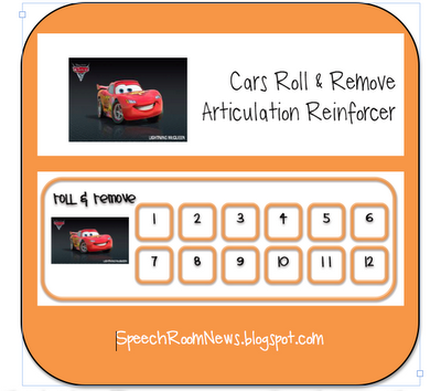 Cars Roll & Remove Reinforcer