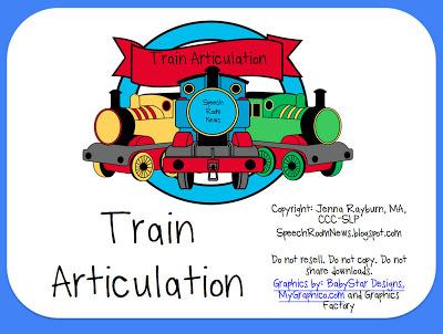 Choo Choo! Train Articulation Cards
