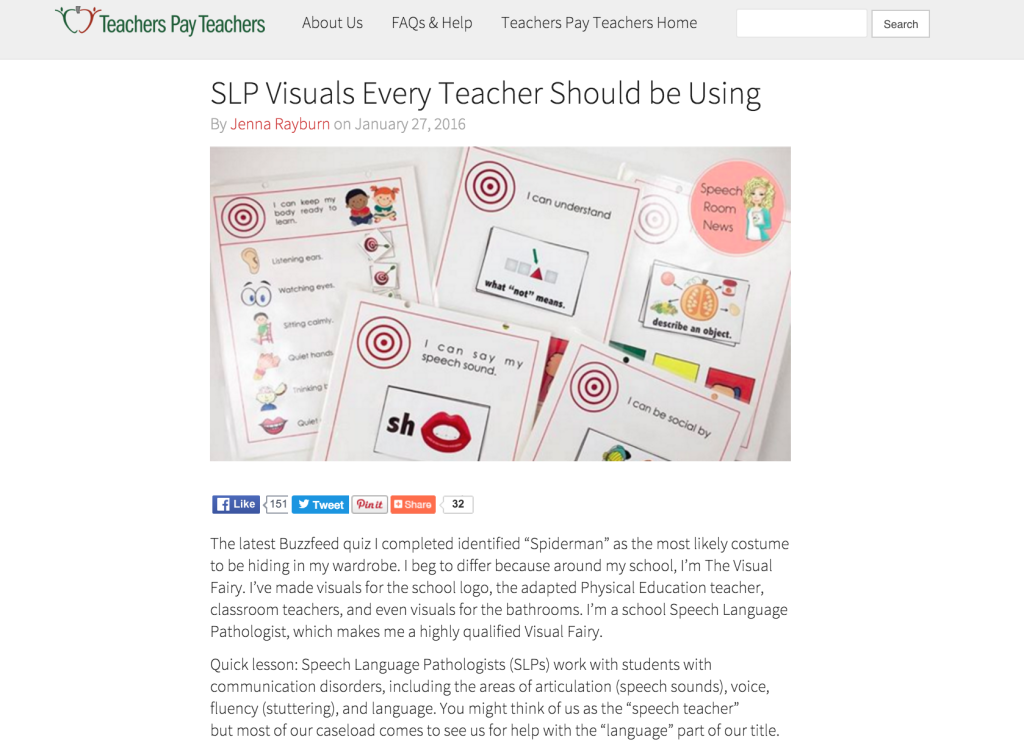 SLP Visuals Every Teacher SHould be Using