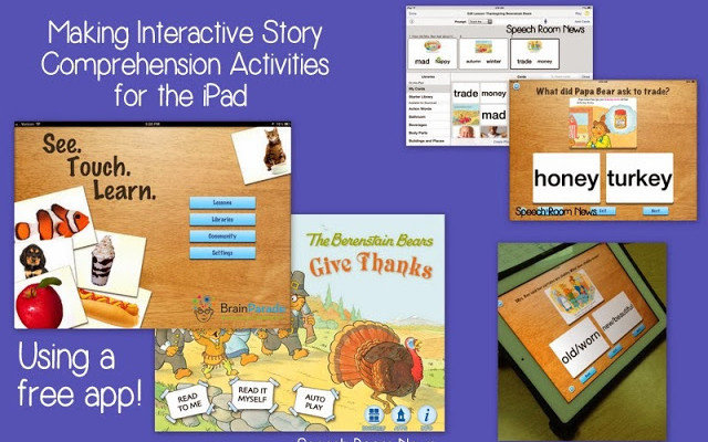 Interactive Story Comprehension Activities for iPad