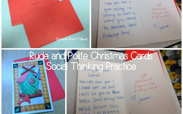 Social Thinking Christmas Cards