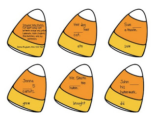 Candy Corn Verbs