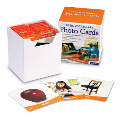 Basic Vocabulary Photo Cards (review & giveaway}