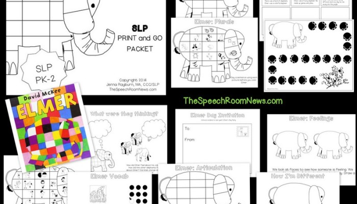 Elmer: Speech Therapy Book Companion