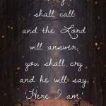 October Scripture