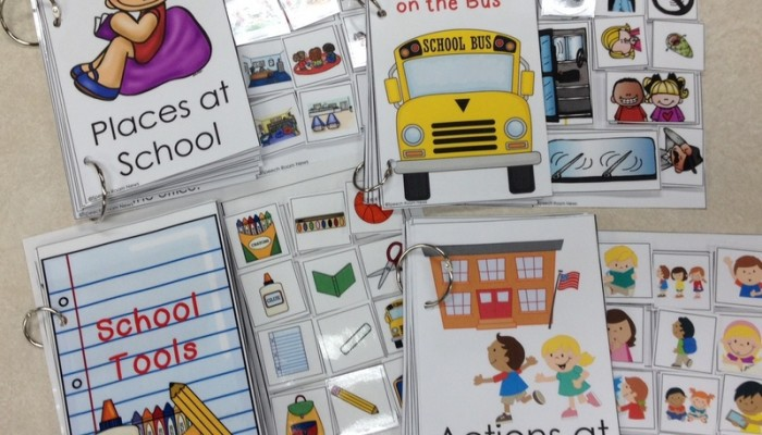 Interactive Vocabulary Books for Back to School