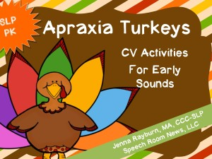 Apraxia Turkey from Speech Room News