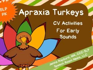 Apraxia Turkey from Speech Room News