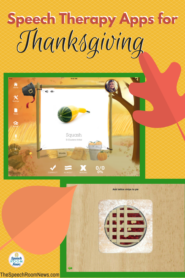 thanksgiving apps for speech therapy