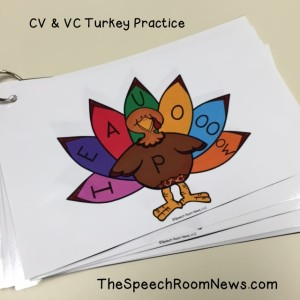 Apraxia Turkeys from Speech Room News.