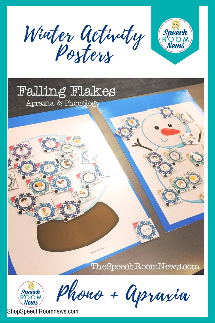 Winter Activity Posters for Apraxia and Phonology