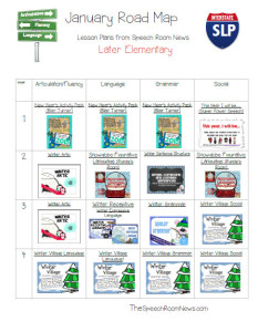 January Speech and Language Lesson Plans FREEBIE