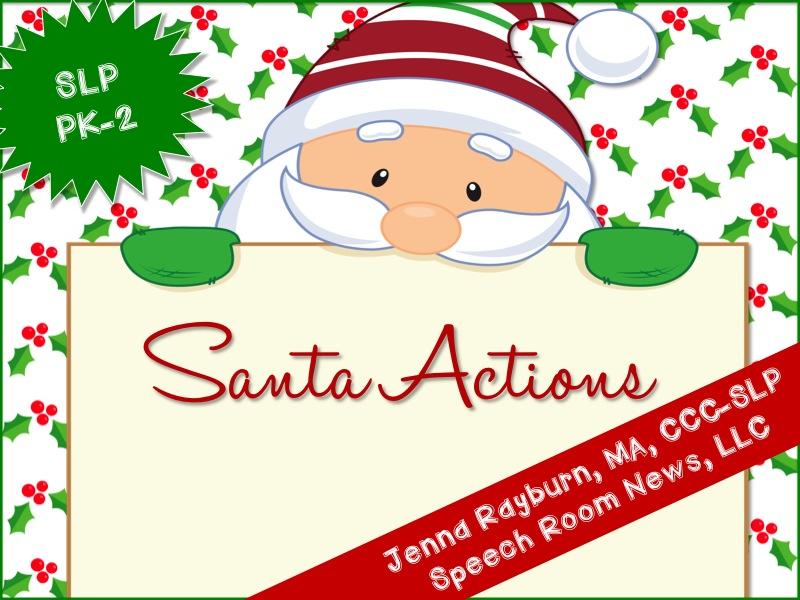 Santa Verbs Freebie