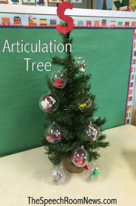 Articulation Christmas Tree from Speech Room News