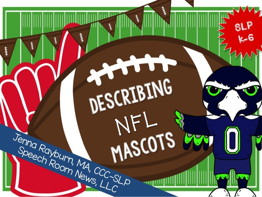 Describing NFL Mascots: Speech Therapy from Speech Room News