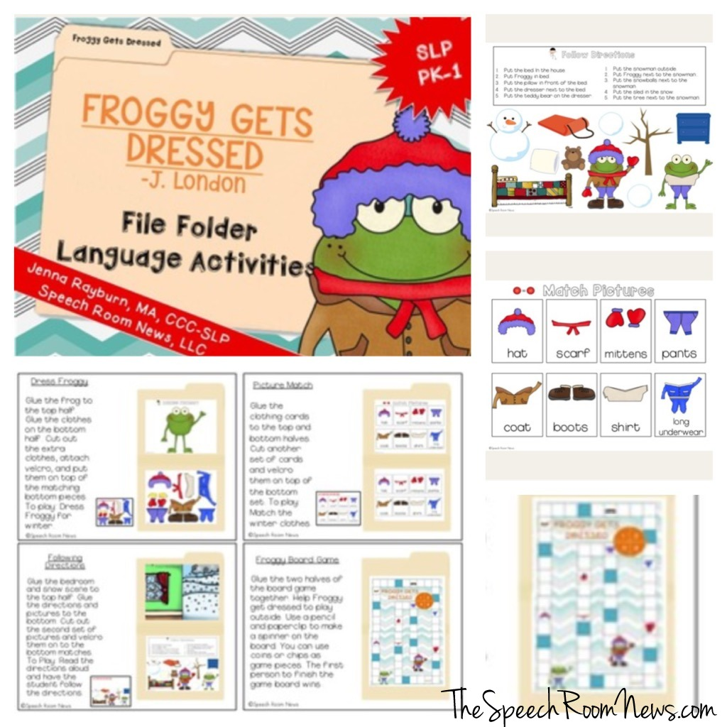Froggy Gets Dressed File Folder Activities