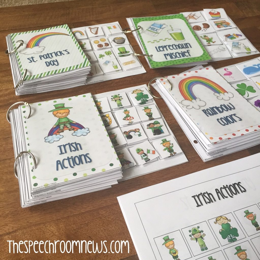 Interactive Vocabulary Books: St. Patrick's Day