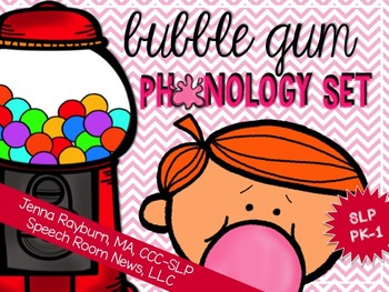 Bubble Gum Phonology Set from Speech Room News