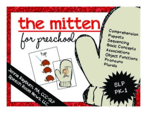 The Mitten Book Companion from Speech Room News